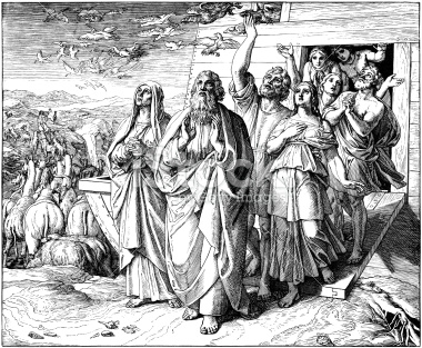 Noah goes fourth from the ark